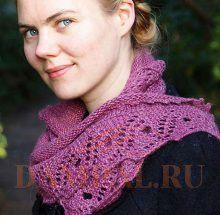 шарф с ажурной каймой