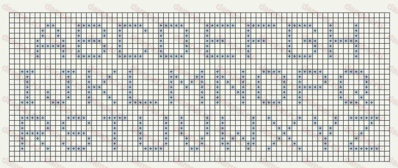 Схемы букв в вязании спицы