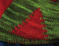 Новогодний шарф с елочками (Вязание спицами