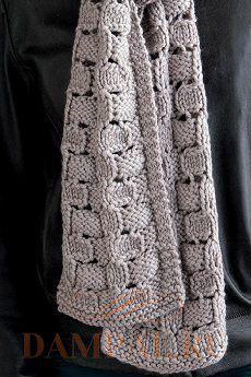женский шарф вязаный спицами