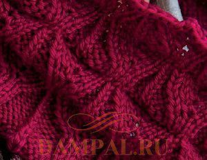 шарф снуд вязаный спицами