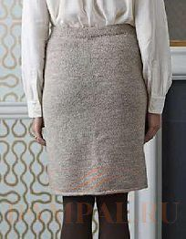 прямая вязаная юбка