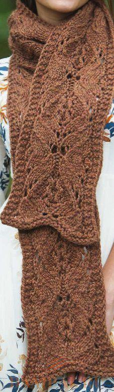 вязаный шарф спицами