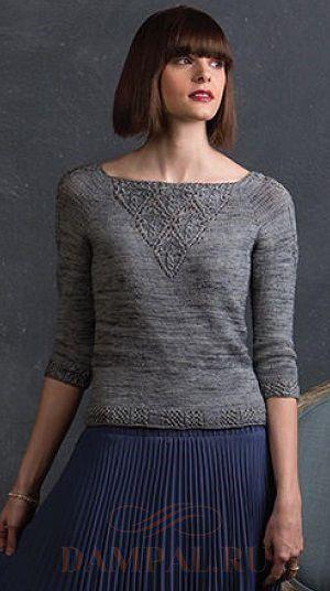 пуловер вязаный спицами женский