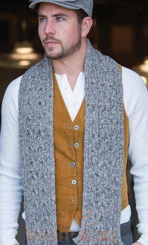 вязаный шарф для мужчин