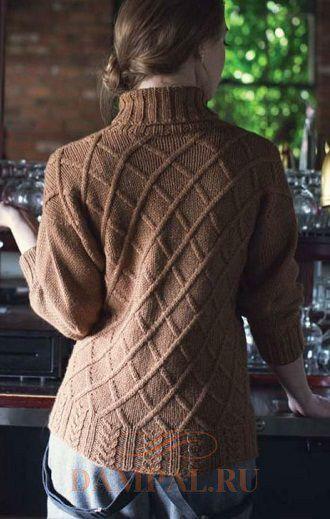вязаный пуловер женский