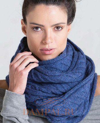 длинный вязаный шарф