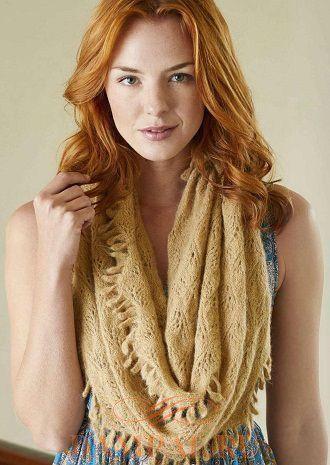 шарф снуд спицами