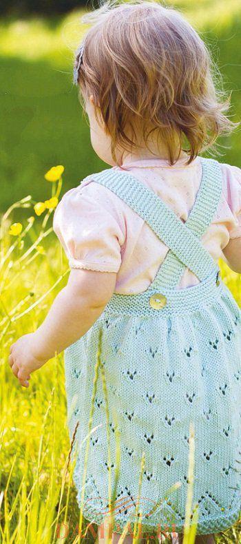 детский сарафан спицами