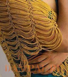 вязаная накидка на плечи