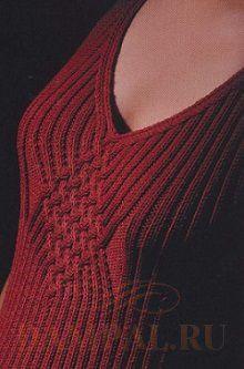 вязаное женское платье спицами