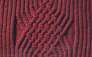 Рисунок вязания спицами