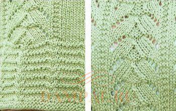 Рисунки вязания спицами