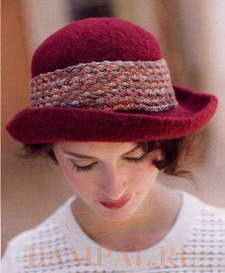 вязаная женская шляпка