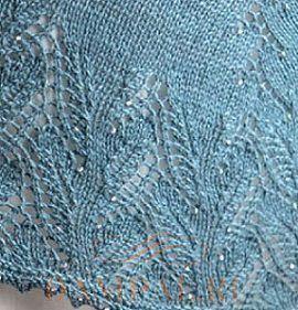 ажурный рисунок для шали