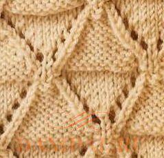 рисунок для вязания пледа