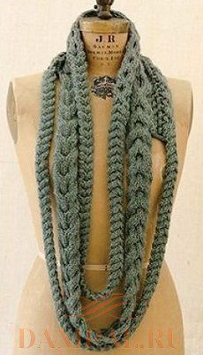 шарф с косами