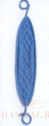 вязаная повязка для головы