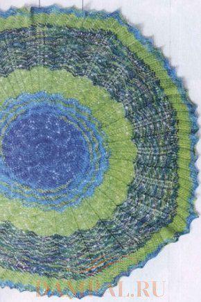 ажурная круглая шаль
