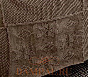 вязаное покрывало спицами