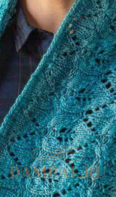 ажурный шарф снуд спицами