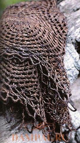 ажурная шаль спицами