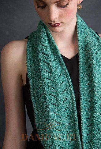 вязаный шарф снуд спицами