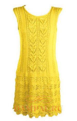 ажурное летнее платье спицами