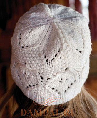вязаная шапка для осени