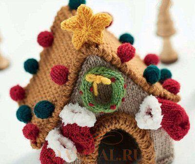 рождественский домик своими руками