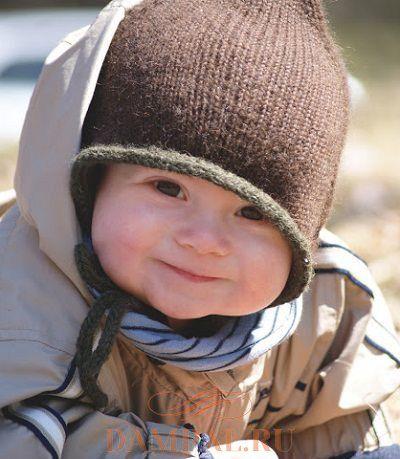 вязаная шапочка для ребенка