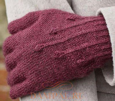 комплект перчатки шапка шарф