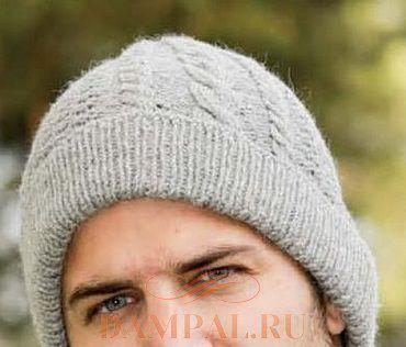 мужской комплект шапка и шарф