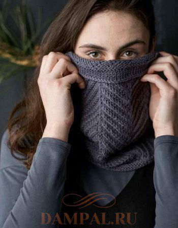 шарф-снуд спицами