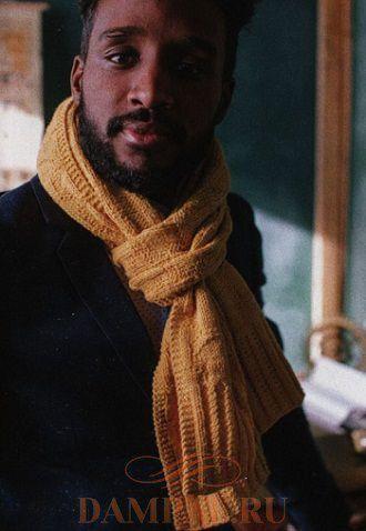 мужской вязаный шарф