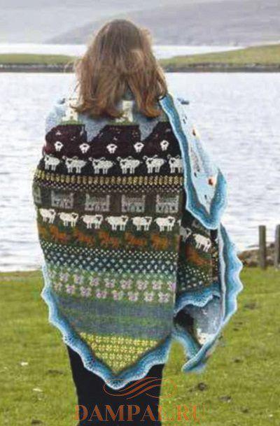 шетландская шаль