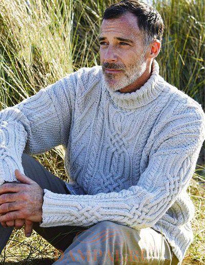 вязаный мужской свитер