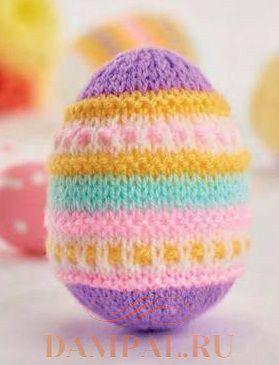 пасхальные яйца спицами