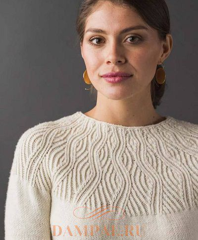 пуловер с круглой кокеткой