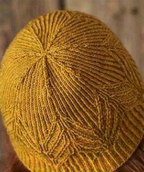 вязаные шапка и митенки
