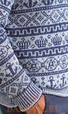 пуловер с морским рисунком