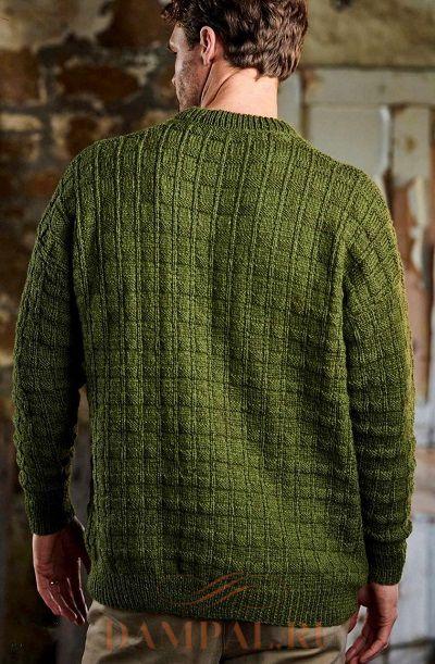 вязаный мужской пуловер